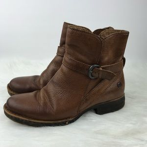 Born Ankle Boots 8 Brown Maired Cognac